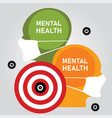 mental health problem anxiety stressed depression vector image
