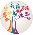 Multicolor abstract tree vector image vector image
