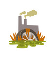 nature pollution factory toxic waste dump vector image