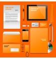 Orange Corporate ID mockup vector image