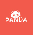 panda logo design chinese bear head silhouette vector image