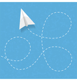 Paper Airplane vector image vector image