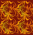 pattern of yellow and orange lines and vector image vector image
