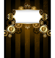 Patterned Banner with Gears vector image vector image