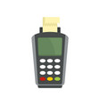 pay by terminal money icon flat style vector image