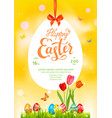 poster yellow holiday easter vector image