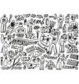raphip hop graffiti - doodles set vector image vector image