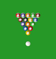 realistic detailed 3d pool billiard balls in the vector image vector image