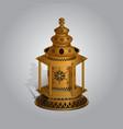 realistic ramadan lamp or lantern mock up vector image
