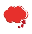 red conversation bubble vector image