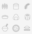 rice icon thin line vector image vector image