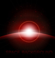 Rising Sun over the planet space background vector image vector image