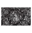 rug is designed in a floral design vintage vector image vector image