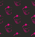 seamless dark pattern or tile texture with pink vector image vector image