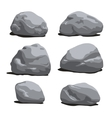 set rocks and stones different shapes vector image