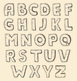 sketch alphabet vintage engraving style vector image vector image