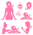 Spa woman set vector image