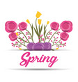 spring floral ornament lettering greeting banner vector image vector image