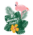 summer time flamingo vector image vector image