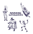 Superheros drawings set vector image