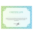Template border diplomas certificate and currency vector image