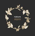 template nature circle vector image vector image