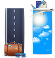 Travel Banners Vertical vector image