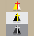 Trinity church icon vector image vector image