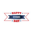 veterans day background blue ribbon isolated on vector image
