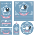 Wedding invitations setWinter decor and dresses vector image vector image