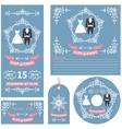Wedding invitations setWinter decor and dresses vector image