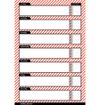 weekly planner stripe pink vertical vector image