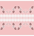 Wide horizontal seamless lace White floral tape vector image vector image