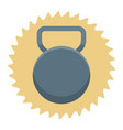 workout kettlebell cartoon vector image