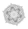 Zentangle stylized elegant black Mandala for vector image vector image