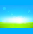 Green field and blue sky vector image