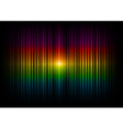 v horizontal lines abstract rainbow dark vector image