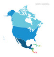 map of north america vector image
