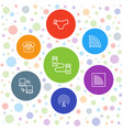 7 connect icons vector image vector image