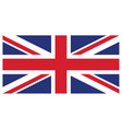 accurate correct union jack united kingdom flag vector image vector image
