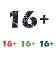 Age restriction grunge icon set vector image vector image