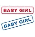 Baby Girl Rubber Stamps vector image vector image
