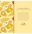Bakery beautiful holiday background vector image vector image