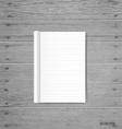 Blank catalog magazinesbook mock up on wood vector image vector image