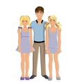 Brother and sisters vector image vector image