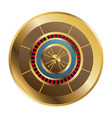 casino gambling roulette wheel playful vector image