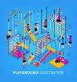 children playground isometeric background vector image vector image