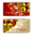 Christmas Background with baubles for inviations vector image vector image