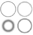 circles with halftone effect collection vector image