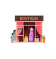 clothing boutique flat vector image